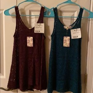 New Pink Republic Maroon & Teal Tank Sweaters XS